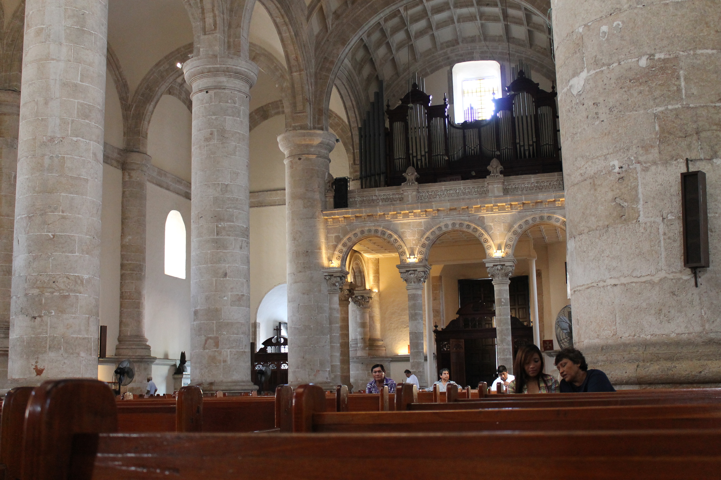 Inside the San Ildefonso Cathedral