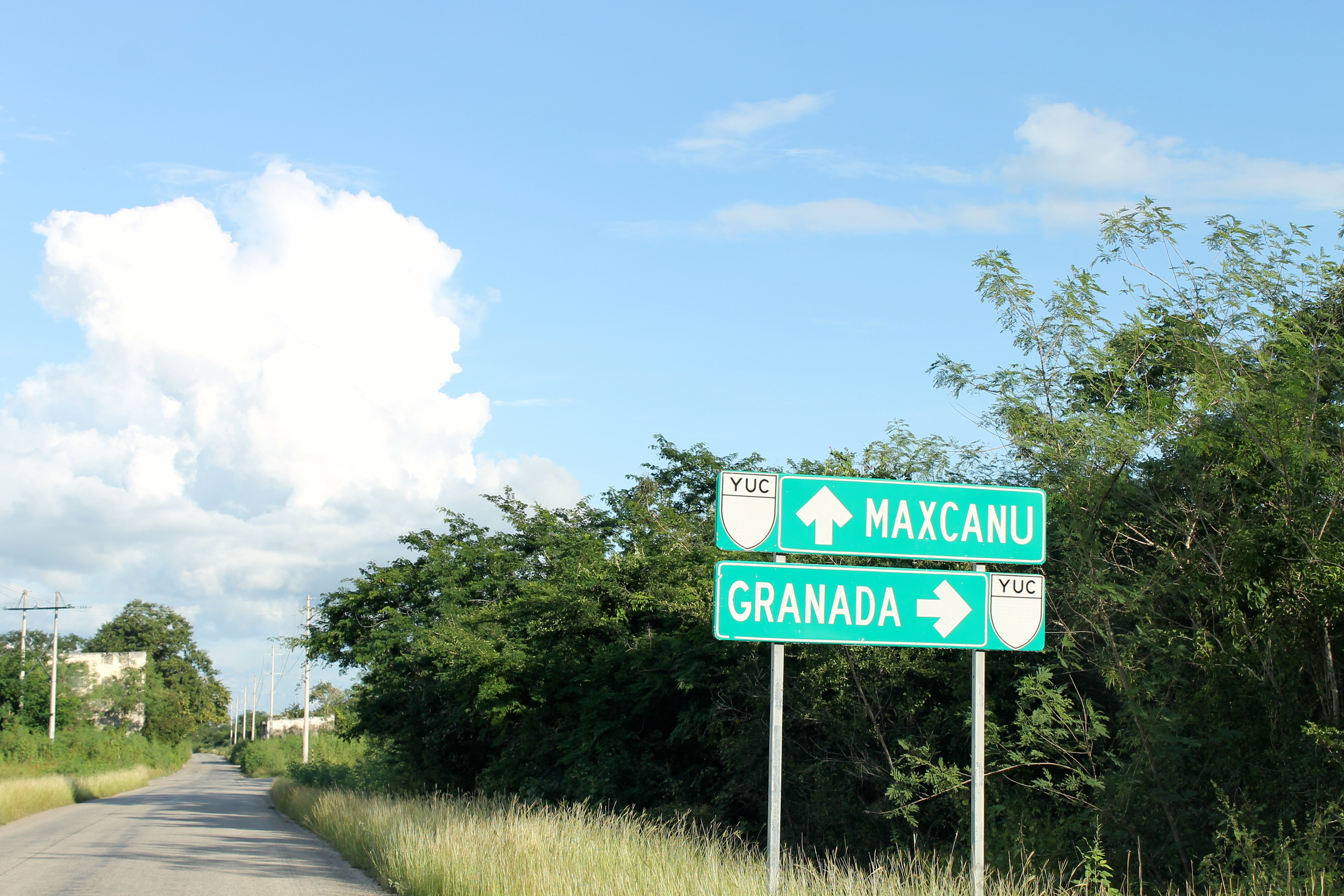 The road from Santa Rosa to Maxcanu. Granada? Really?