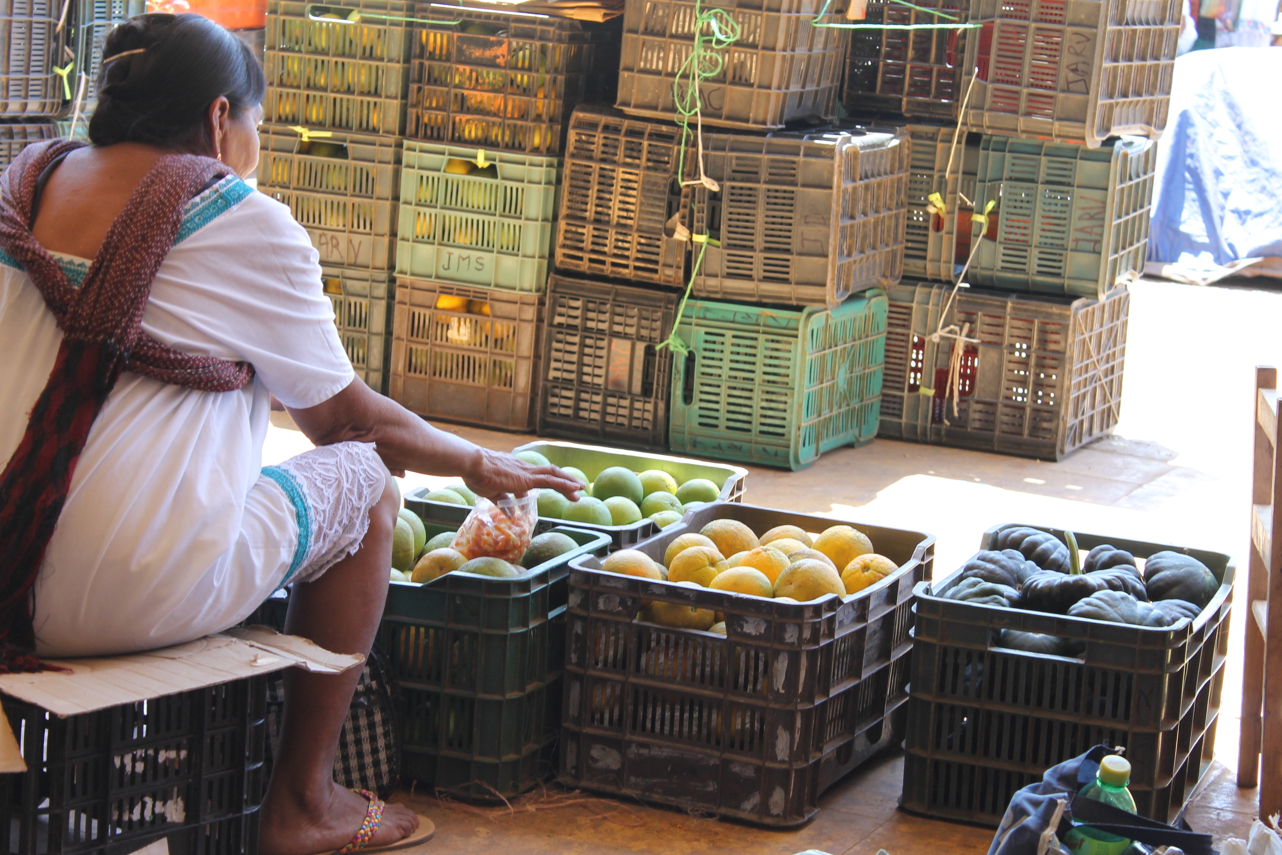 Fruit Vendor in Oxcutzcab