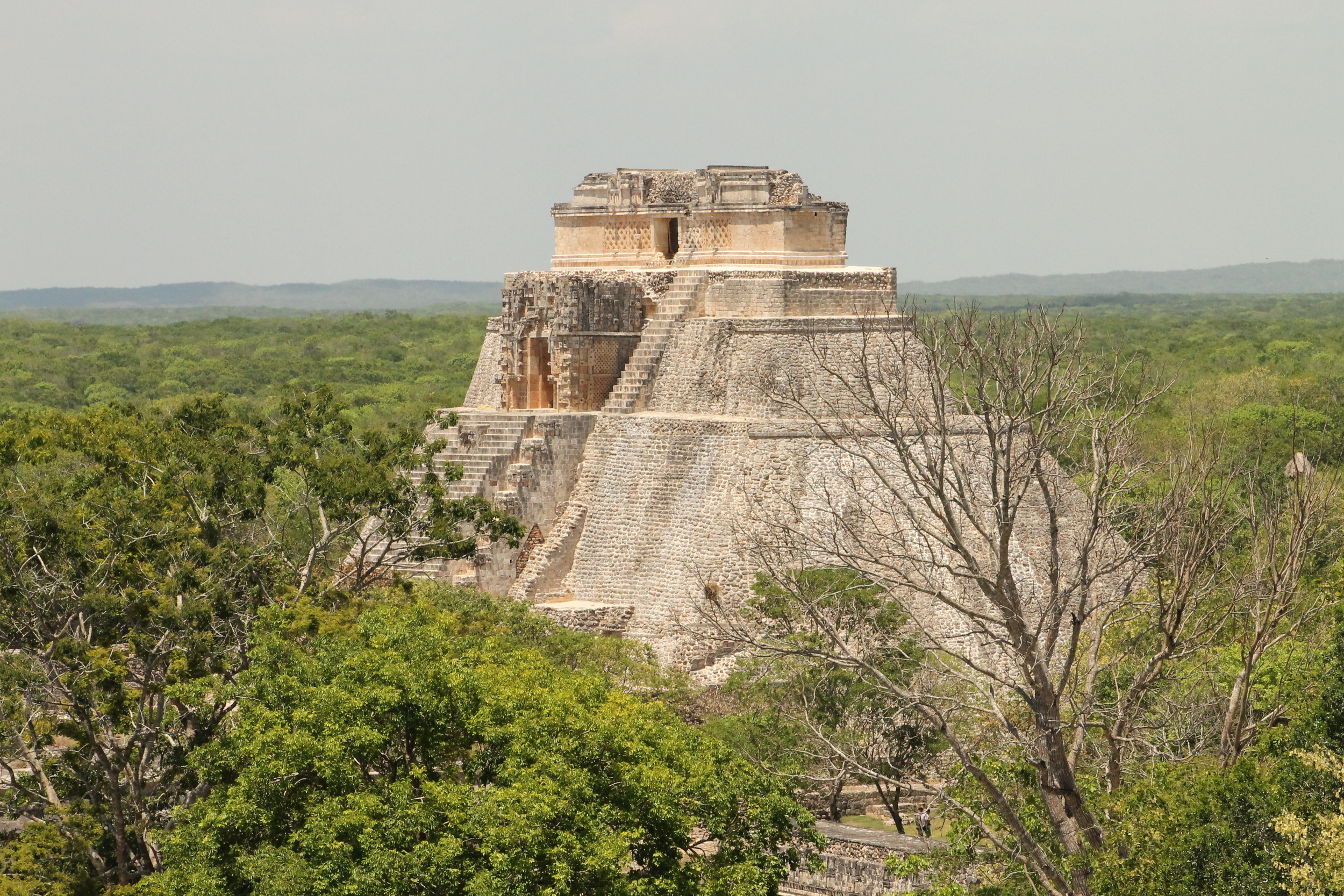 The Temple of the Magician, Uxmal, Yucatan, Mexico - photo by R Hollmann
