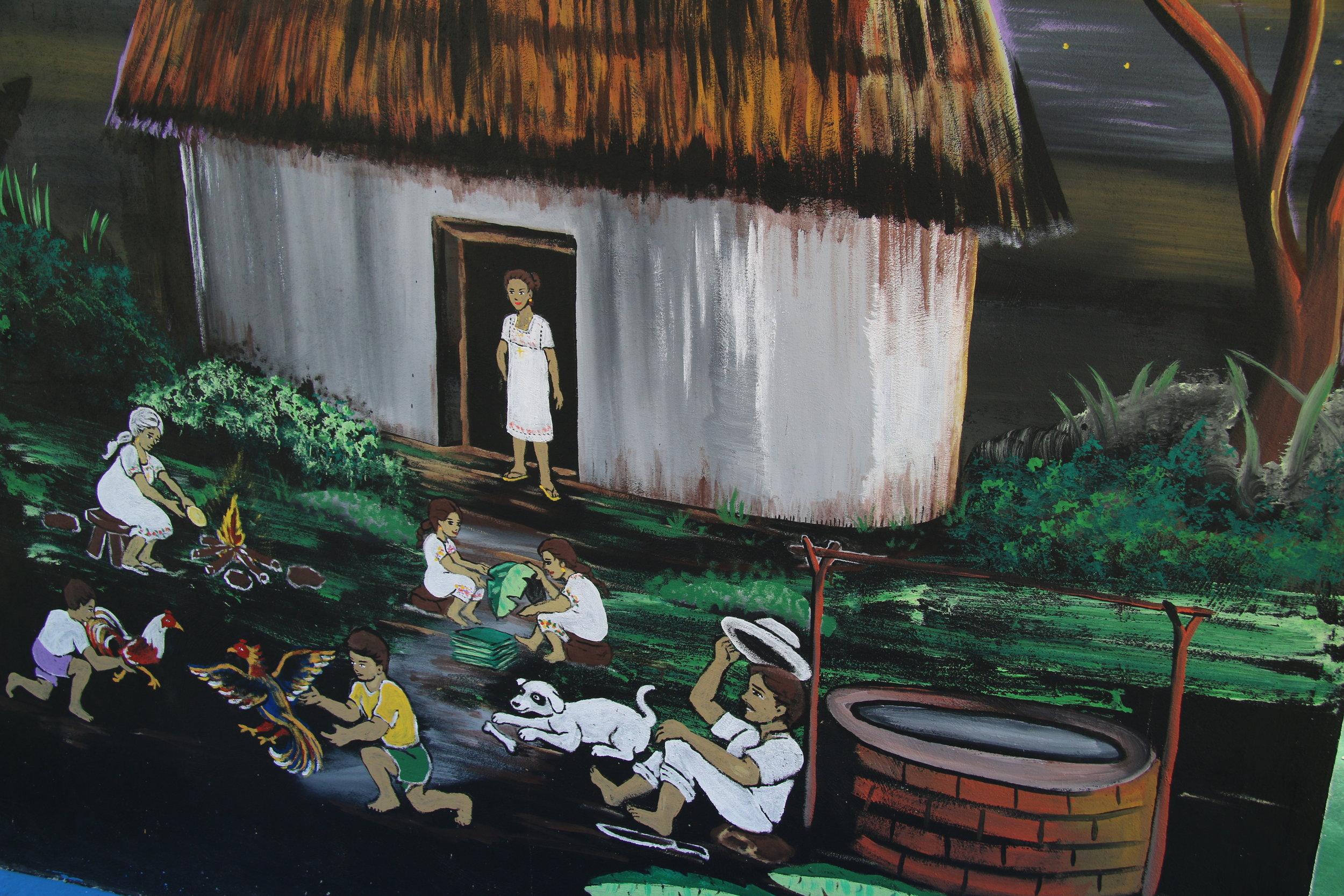 Mural detail, Mayan heritage