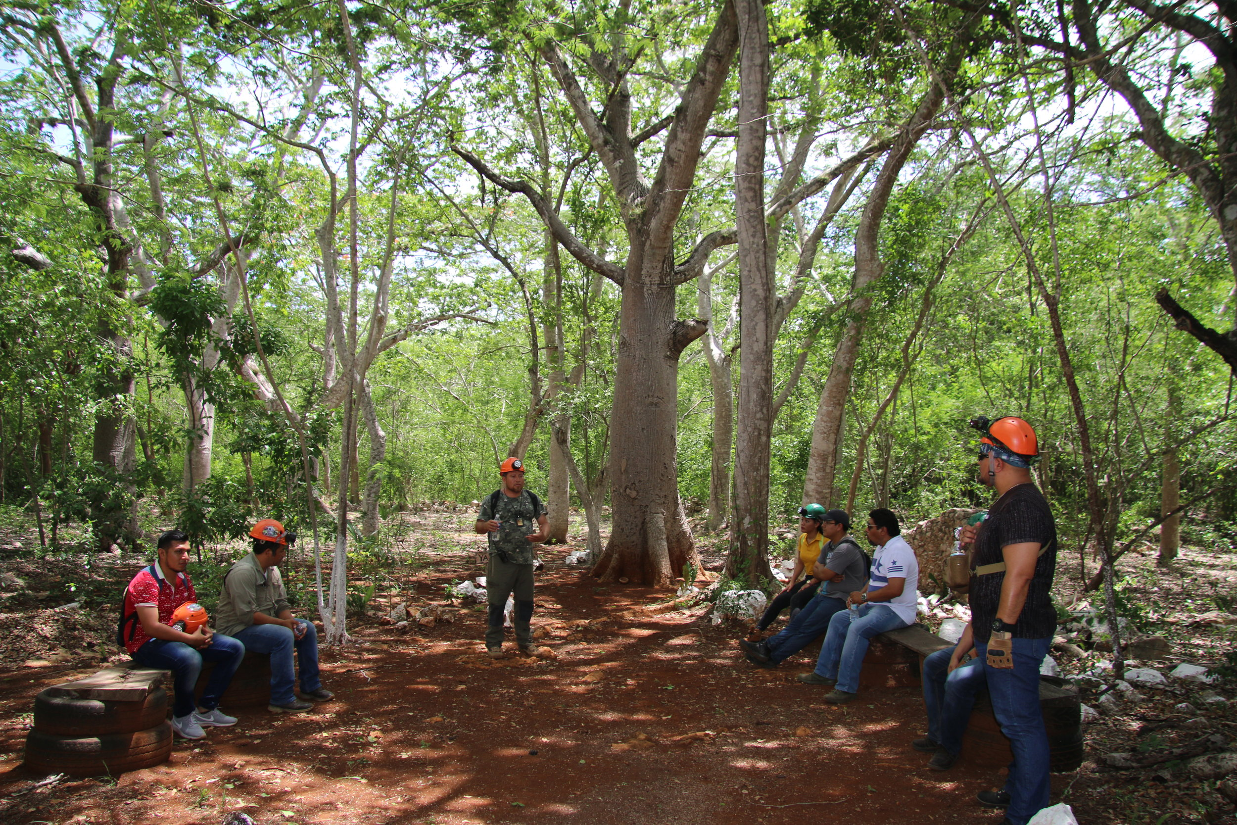 First stop under the Ceiba tree, a little history of the property