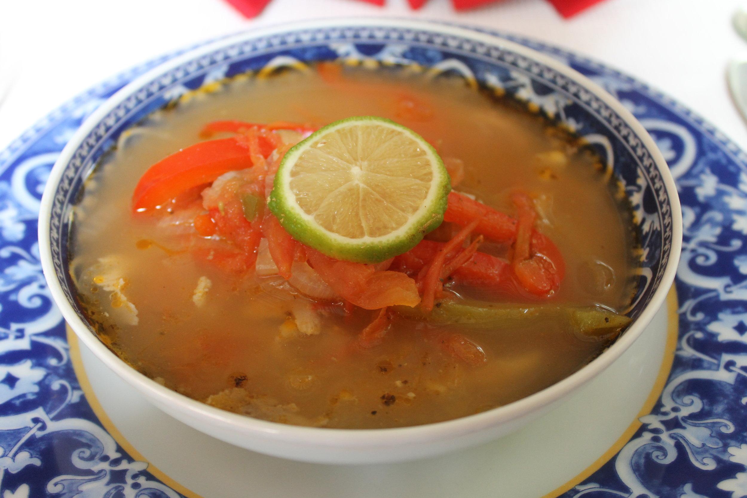 Sopa de Lima - Los Frailes, Conkal, Yucatan -  photo by Ralf Hollmann