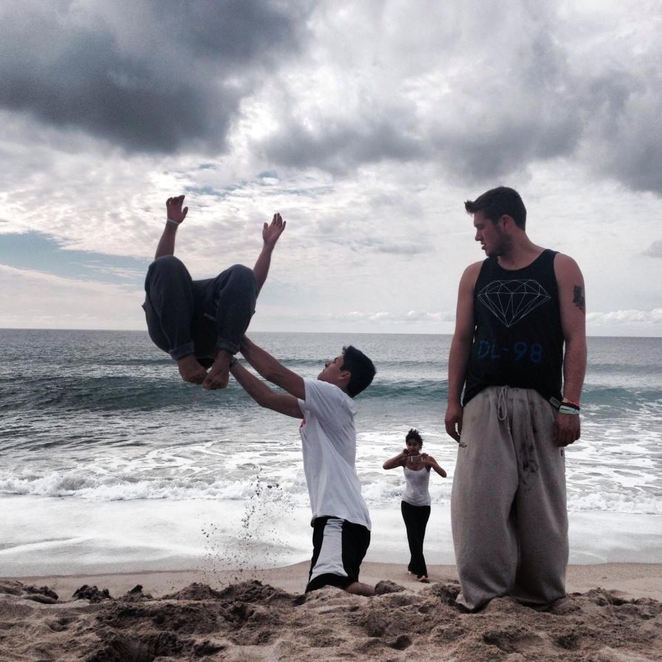 Noah Amparano in Zuma Beach, California (B3Mavericks)