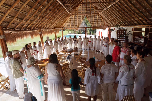 For the first time ever, The Night Turtle Dance traveled to the Yucatan, Mexico, in March 2017. Fabulosa! Dozens of people dancing till dawn, then coming together for a final circle.