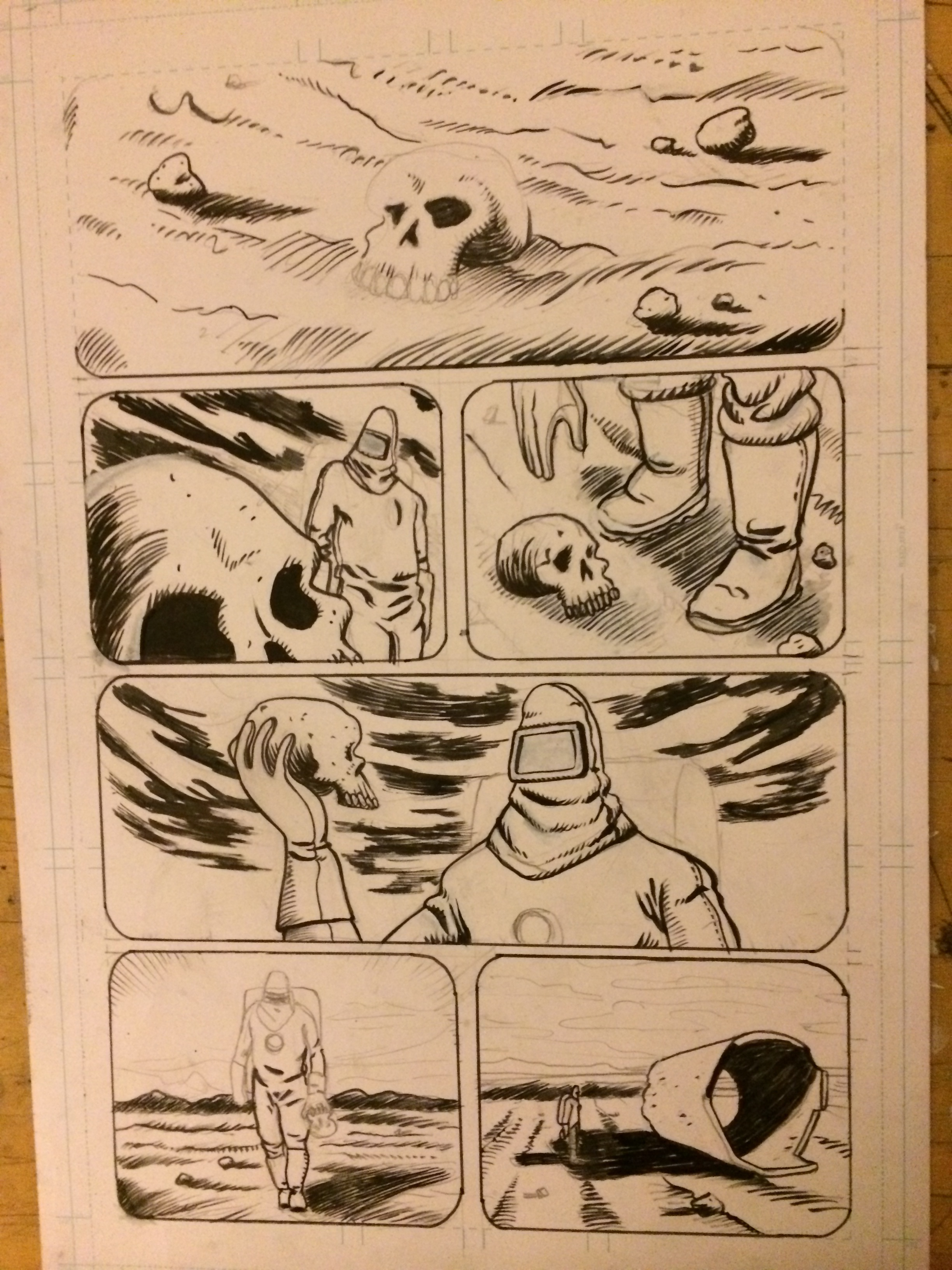 I started inking the page form the previous post. I'm making some progress but I still have a ways to go.