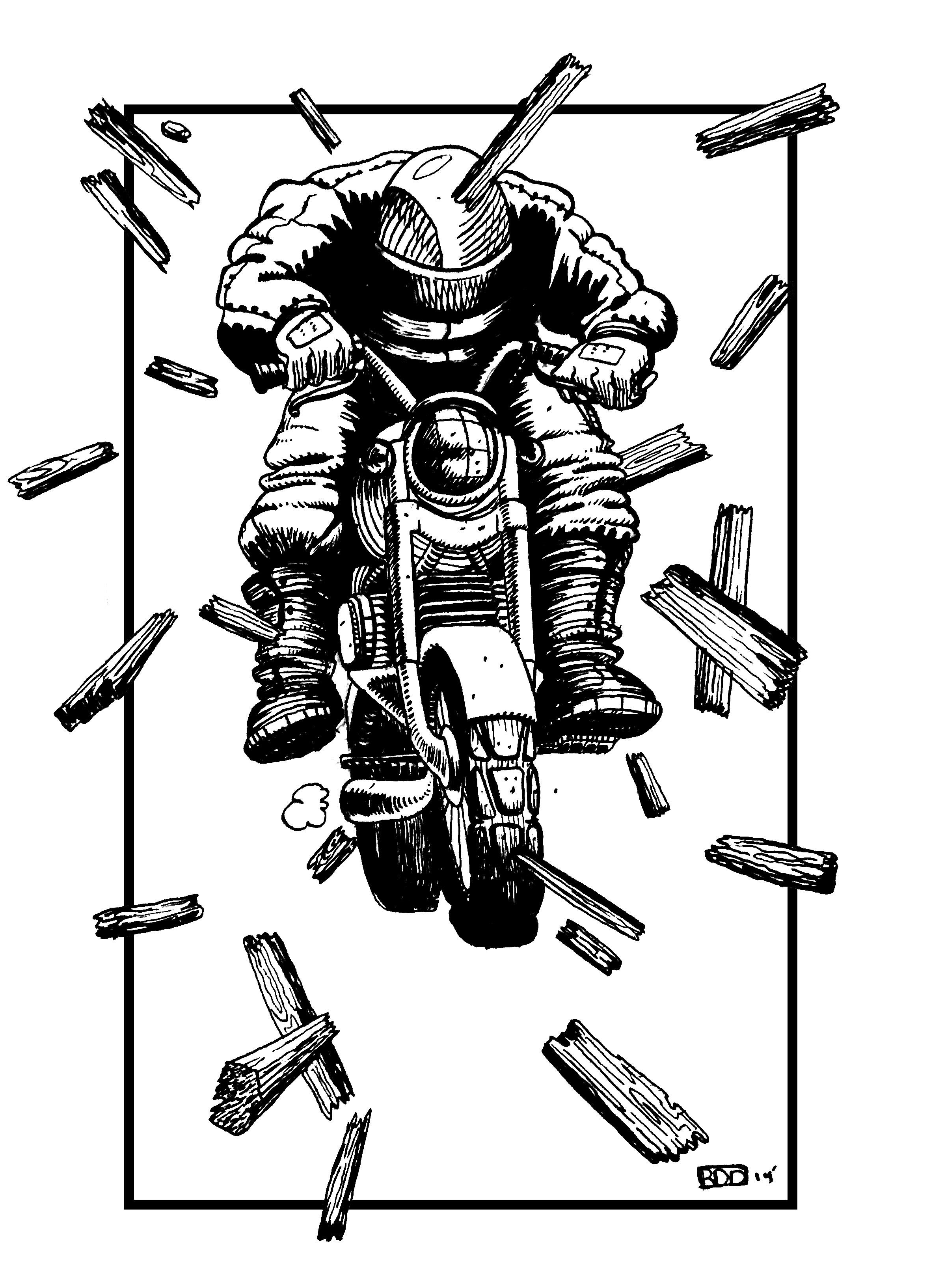 Boom, Bang  Ink, Digital   May 2014