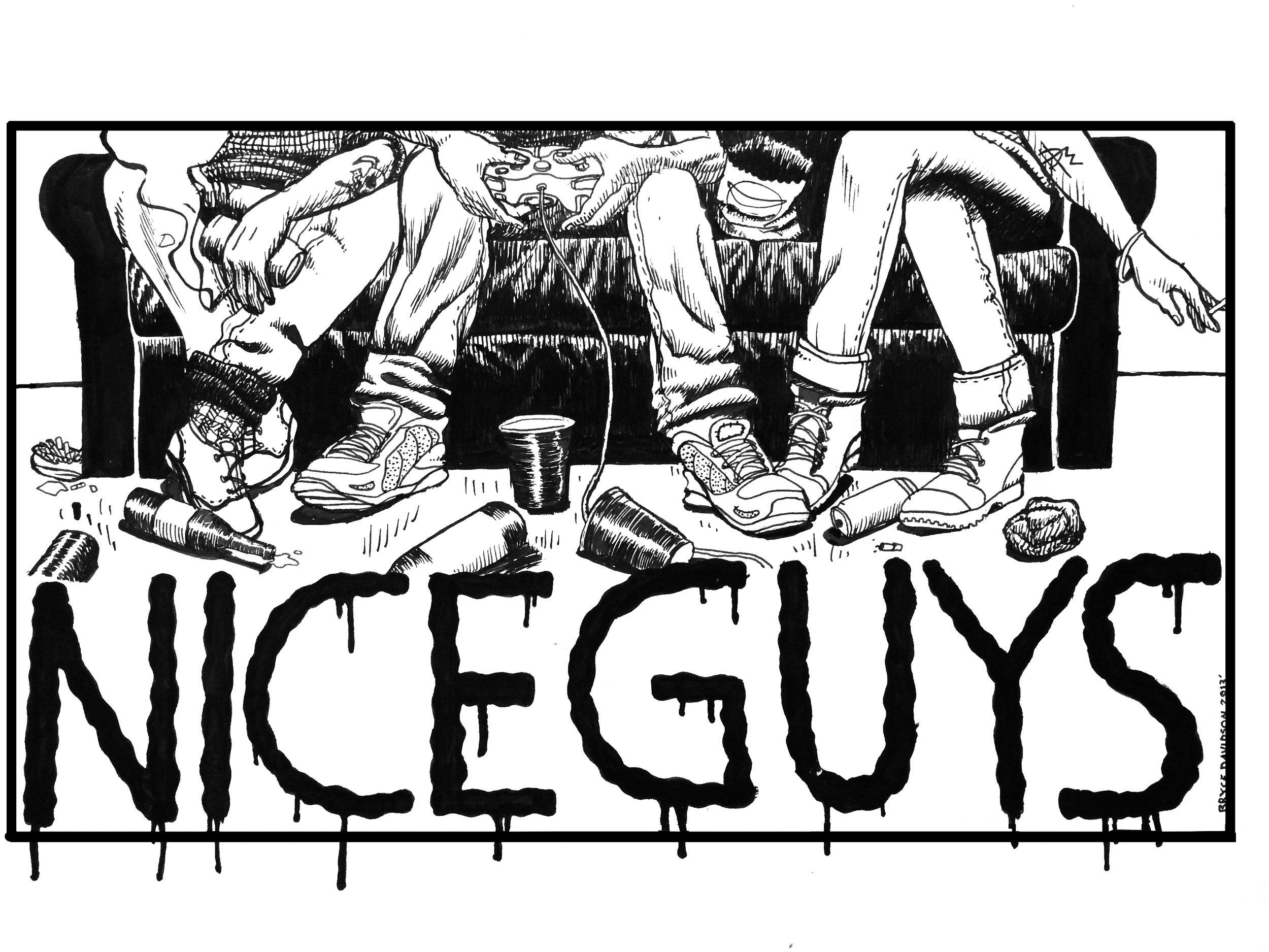 - T-shirt DesignClient: Nice Guys (band)T-shirt design for the band Nice Guys2012