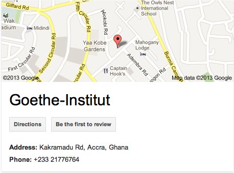 Goethe institut - East Cantonments Accra Ghana