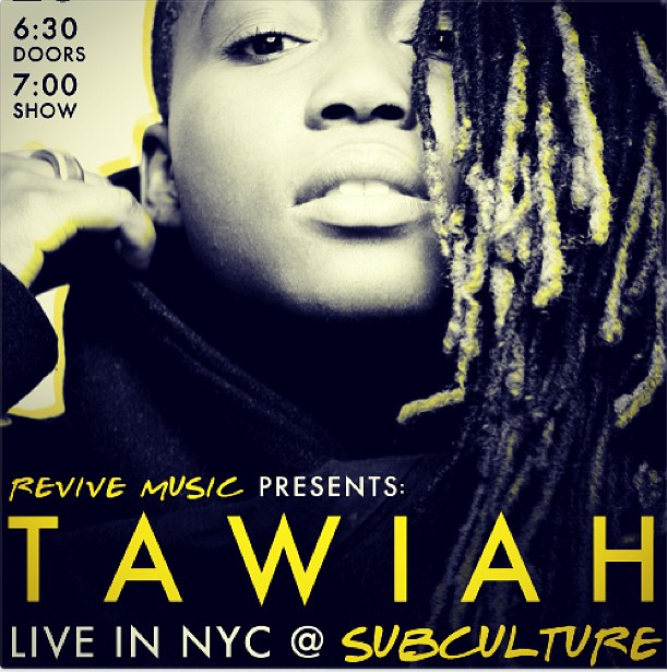Tawiah revisits New York on Tues. 25th June 2013
