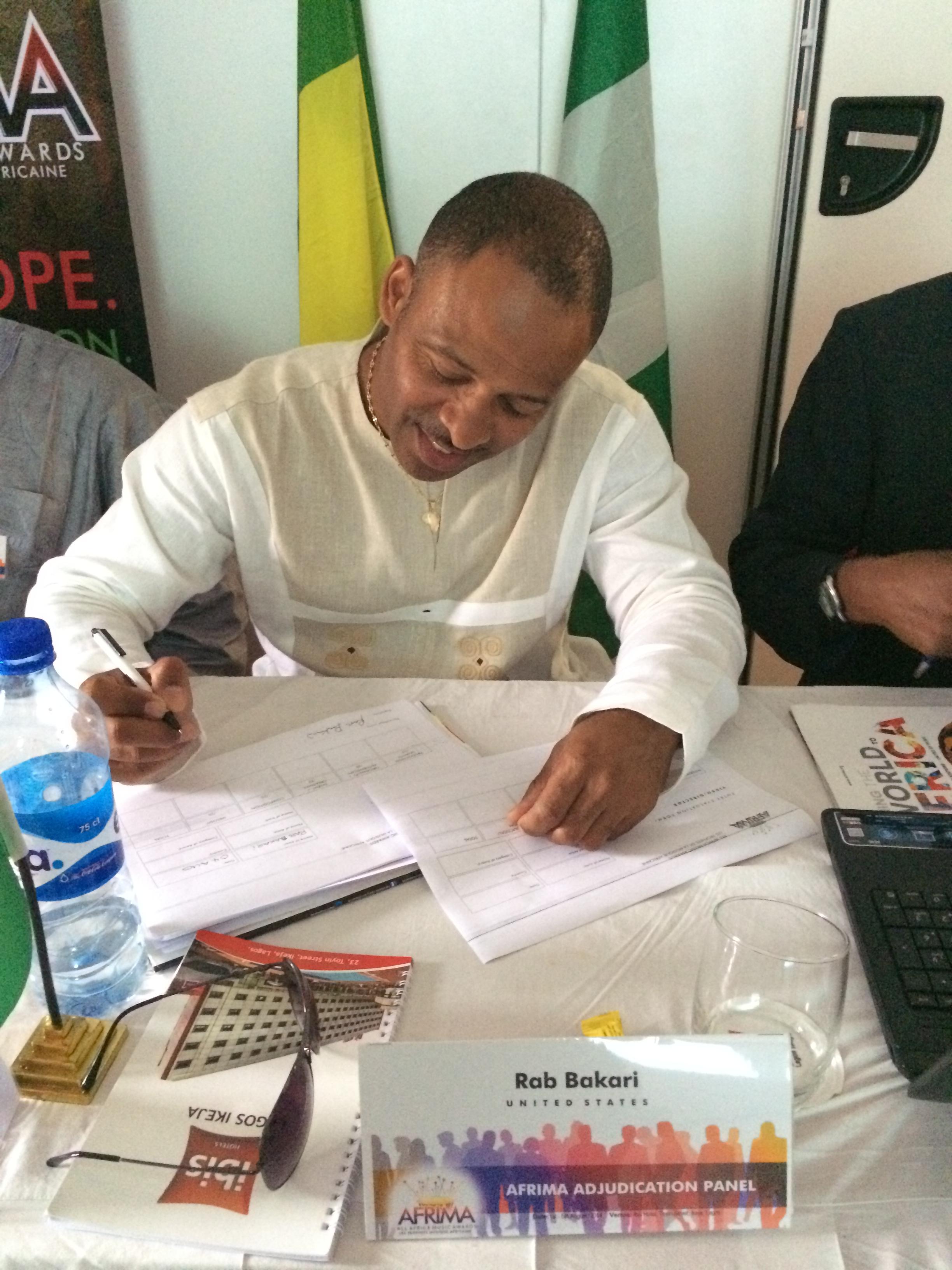 Grading music songs during the adjudication process, Lagos, Nigeria
