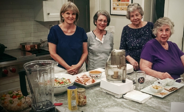 Dame Elizabeth Greene, Dame Doris Koplin, Dame Gloria Smiley and Dame Lenada Merrick at Dames Who Play in the Kitchen: BYOB Edition!