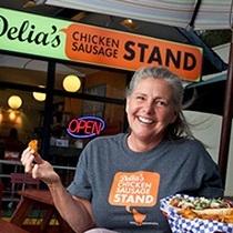 Delia Champion    Delia's Chicken Sausage Stand  Founder