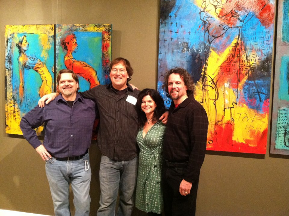 Tuesday Night Painters Club-Bud Cook, Shaun Rock, Me and Sean Farrell