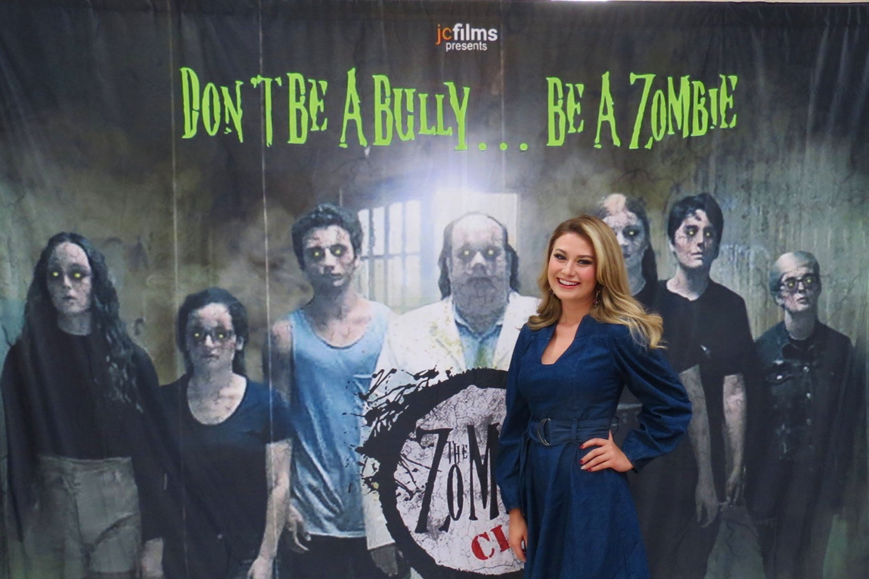 Our President and founder of Shining S.C.A.R.S. Inc., Krystian Leonard at the premier of The Zombie Club.