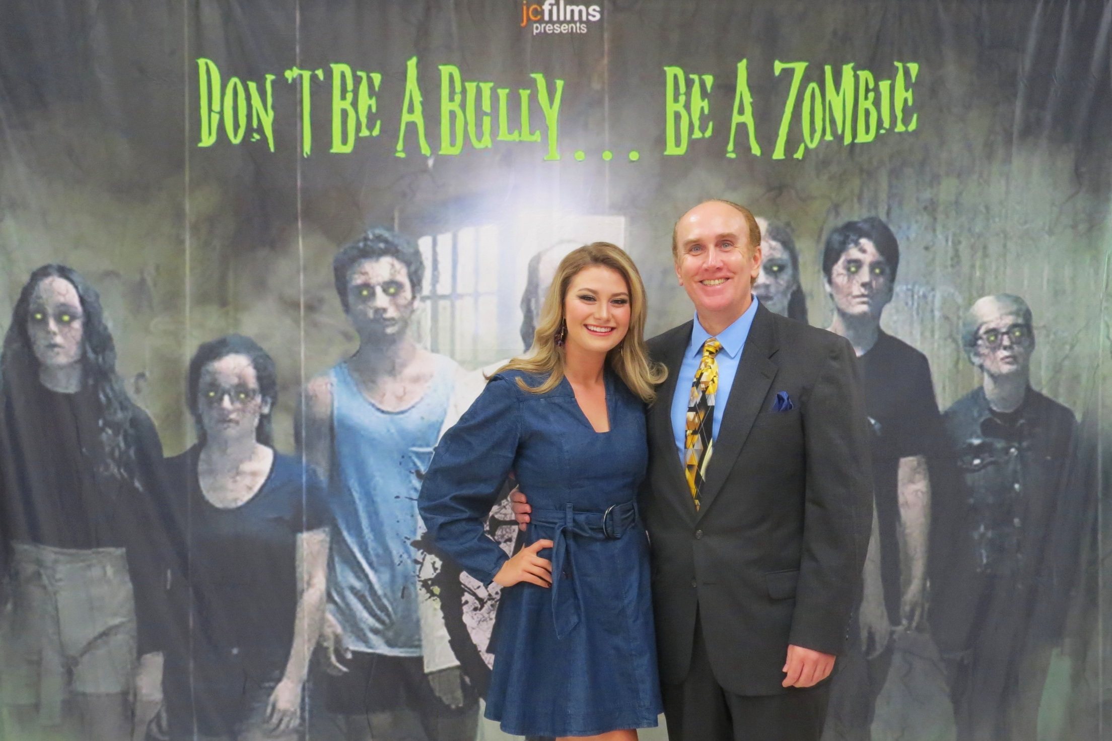 Actress, Krystian Leonard, and Actor, Michael Sigler, aka Ms. Walker and Coach Tanner in The Zombie Club movie.