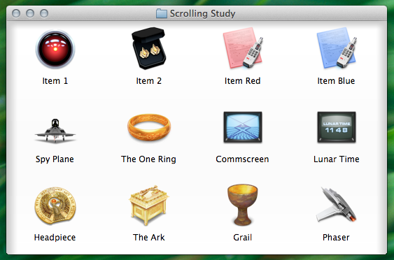 A Finder window hiding content to the left, top and right