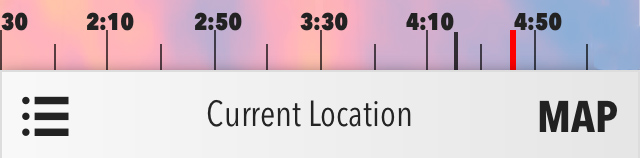 Forecast - the black indicator is draggable, with the red indicator remaining static to indicate the current time.