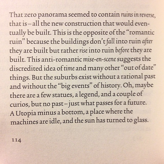 In#briandillon's titular essay from the collection objects in this mirror (#sternbergpress) he uses the 1967 pilgrimage of land artist#robertsmithsonto his hometown of Passaic, New Jersey as a starting off point for a brilliant meditation on the psycho-spatio-temporal elements which constitute the conversing with history vis-a-vis artist pilgrimage. Undertaken in the essayistic tradition of open experimentation and frank documentation Brian recreates Roberts journey to the best of his ability. I wish Brian included more photographs in his piece, not only because it's apropos of his progenitorial interlocutor but because to not do so seems regressive now. I'm compelled to respond to this essay by visiting Passaic in a timespace optimally suited to me. Passaic via Internet. Passaic via Robert via Brian via Internet via perry#passaics