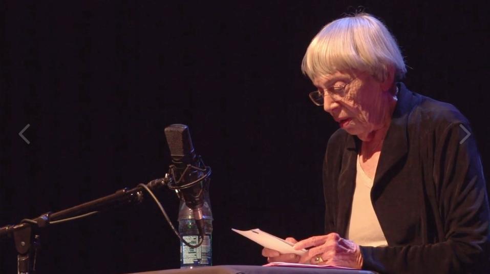 https://vimeo.com/97364872  - Ursula K. Le Guin