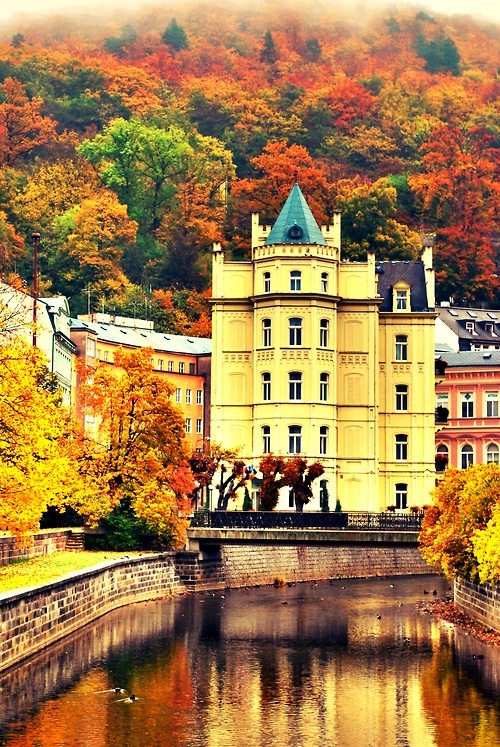 Karlovy Vary  in the beautiful Czech Republic.