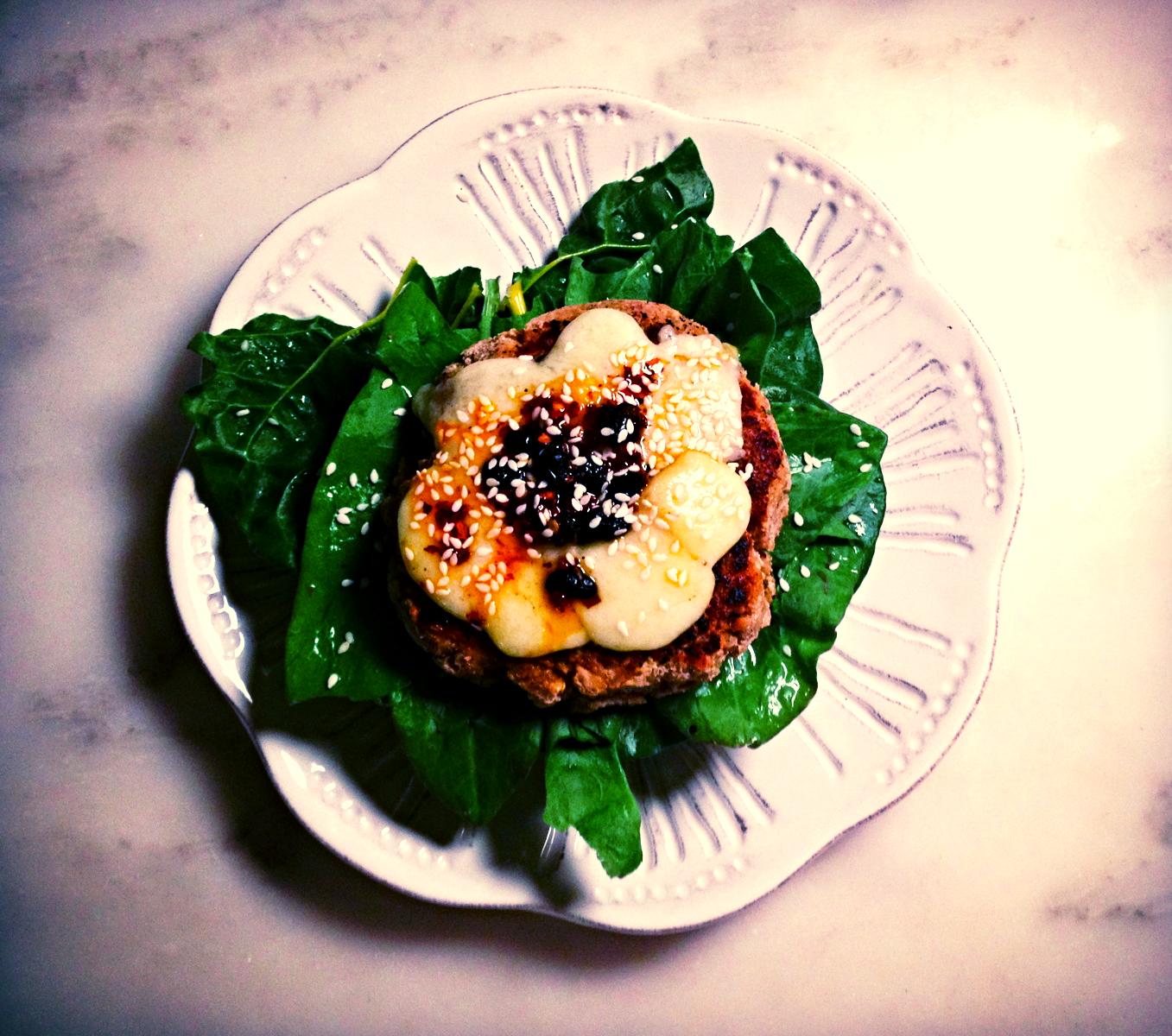 Detoxifying rosemary veggie burger recipe