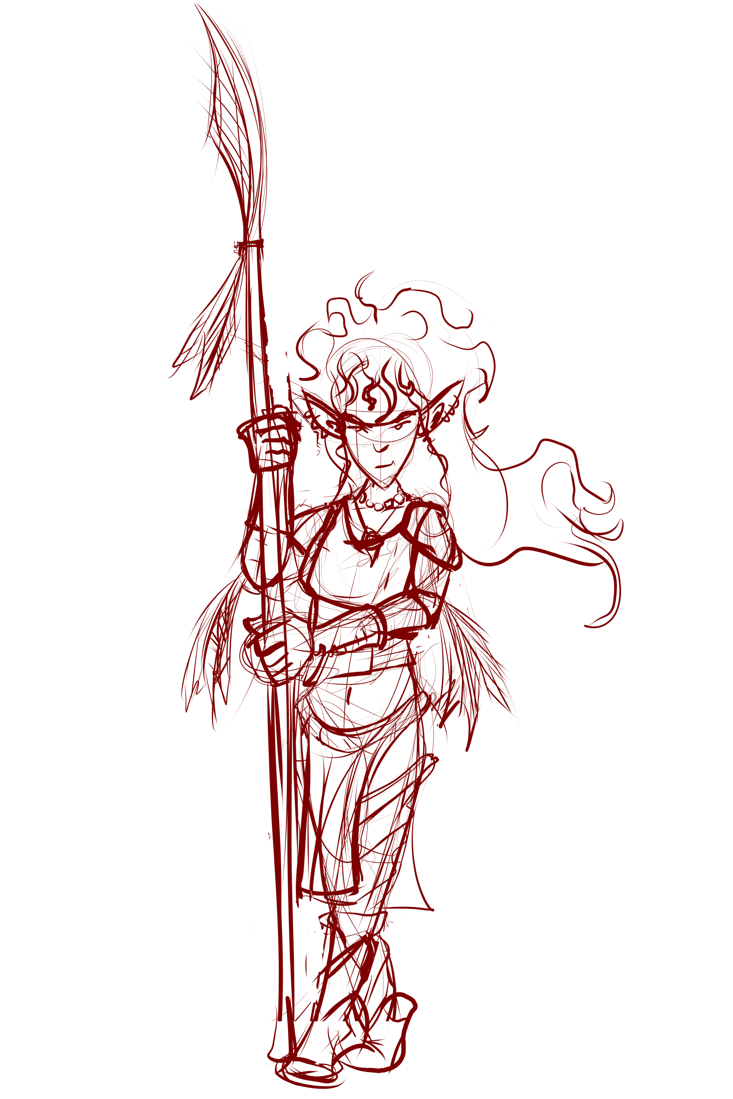 Elf Barbarian - Sketch