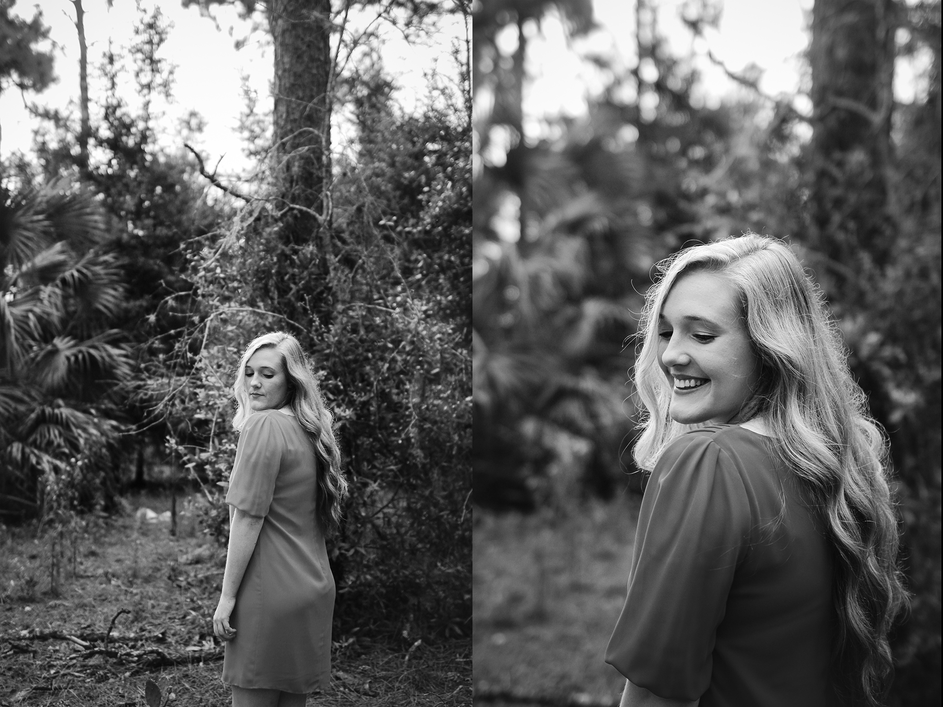 forest senior portraits bw.jpg