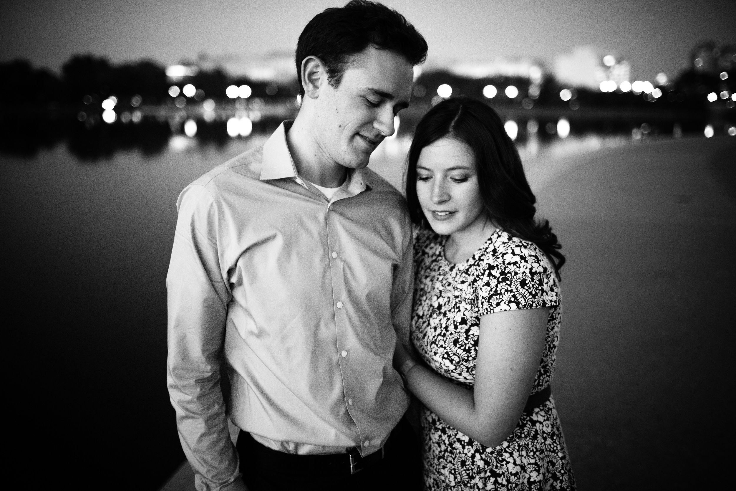 downtown engagement photos in washington, dc bride and groom
