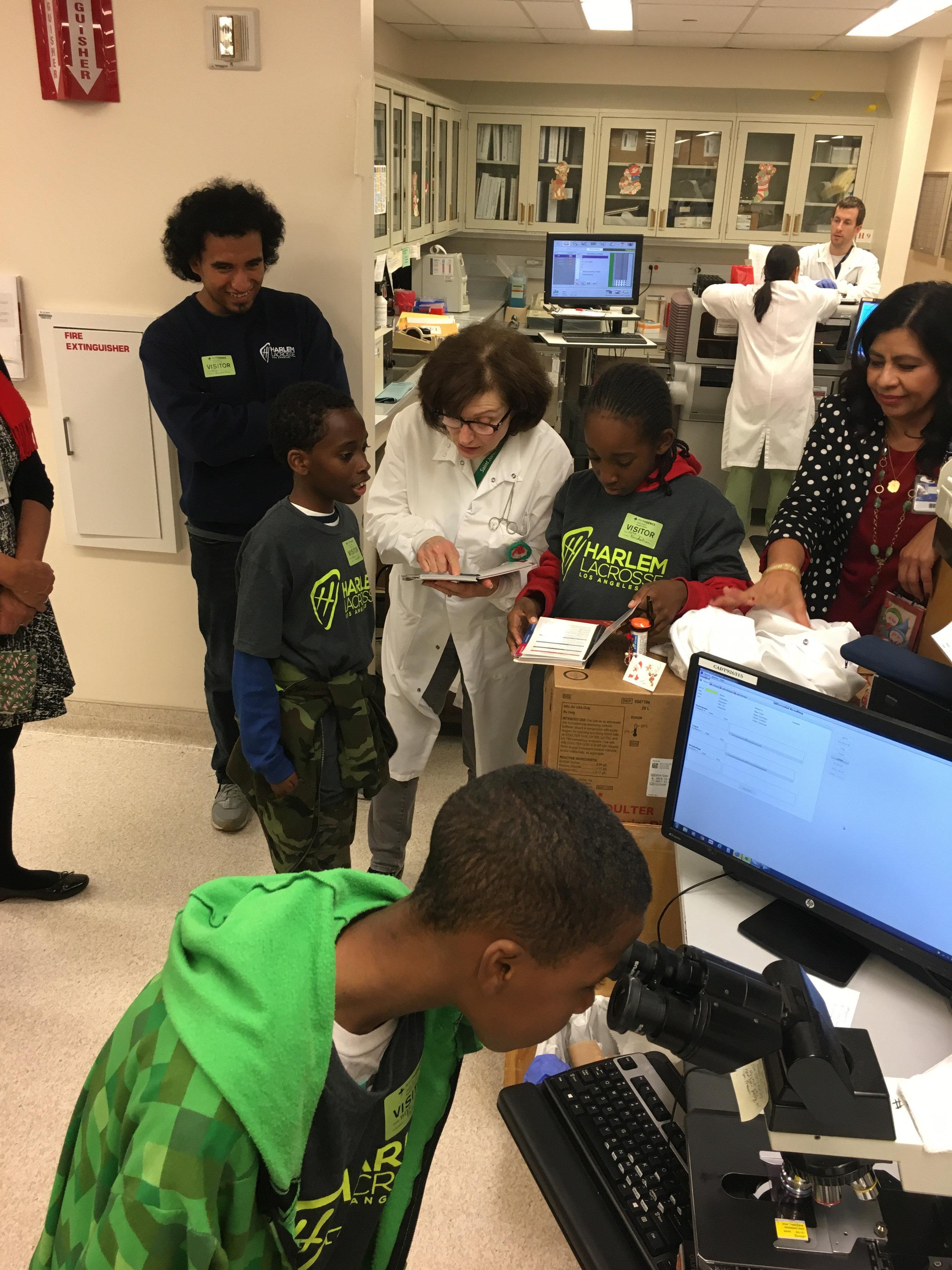 In December, View Park Boys took a trip to Providence St. John's Hospital in Santa Monica