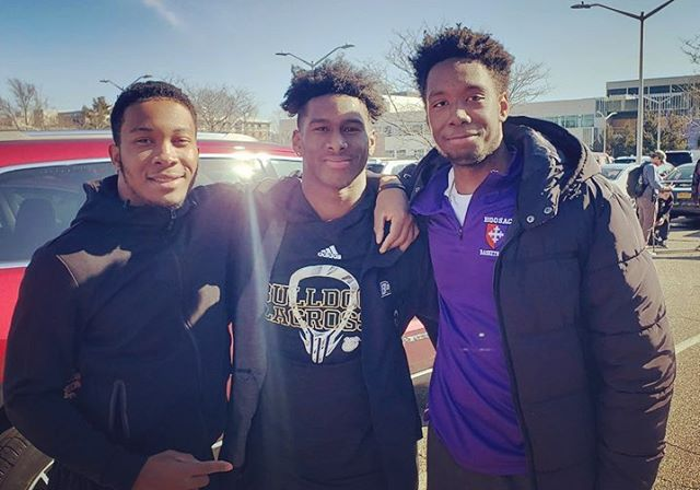 "Last Saturday - 60 students, 5 coaches and 8 family members made the trip from Harlem to Long Island to watch HL alum Dy-Jae Pearson and @bryant_mlax play Stony Brook to a closely contested one-goal game. ————————————————————— Dy-Jae took several runs as a long stick midfielder over the course of the game. He made a great play to clear the ball to his team's offensive end right as we were all being seated. That generated some great energy from Dy-Jae's cheering section right behind the Bryant bench that lasted the entire game. ————————————————————— After the game, the current HL student-athletes swarmed Dy-Jae as he walked from the team's locker room to the bus and posed for a group photo. Before he left, Dy-Jae had a quick message for the group: ————————————————————— ""I come from the same place as all of you. If you keep working, good things will come to you too."" ————————————————————— Poignant and classically Dy-Jae, those words motivate all the HL student-athletes as they embark on their own spring seasons this month! ————————————————————— #throwbackThursday #aimhigh"