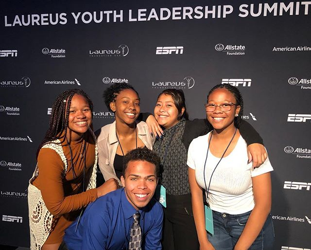 Taking advantage of every opportunity to speak, collaborate, and learn at the @laureussport youth summit. Some amazing young leaders in the room, including these from @harlemlacrosse_la  Proud to partner with Laureus and help usher in their 5th #sportforgood City right here in LA.  #youngleaders #manyfieldsoneteam #LALive