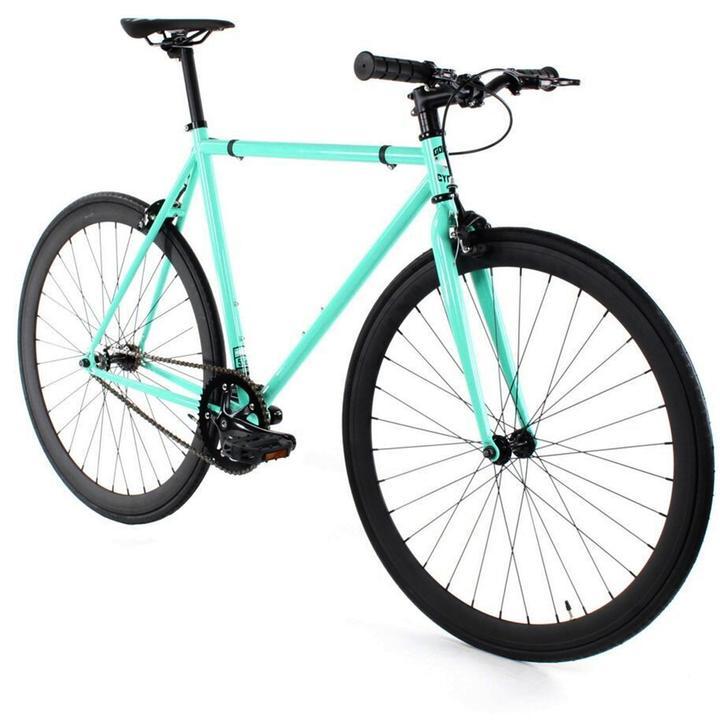 Steel Single Speed, Turquoise/Black $299