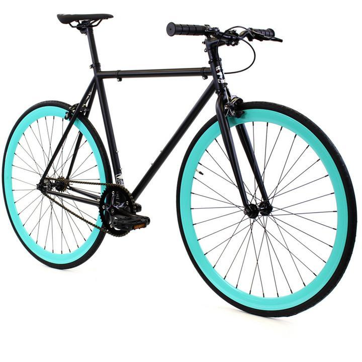 Steel Single Speed, Black/Turquoise $299