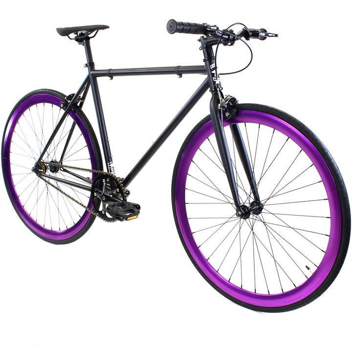 Steel Single Speed, Black/Purple $299