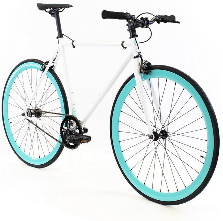 Steel Single Speed, White/Turquoise $299