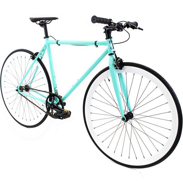 Steel Single Speed, Turquoise/White $299