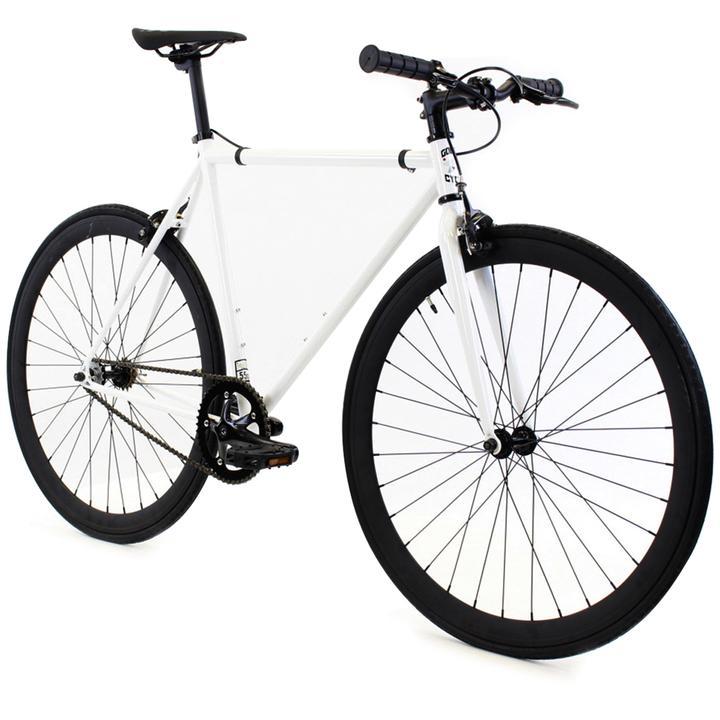 Steel Single Speed, White/Black $299