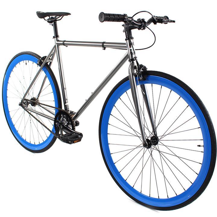 Steel Single Speed, Black/Blue $299