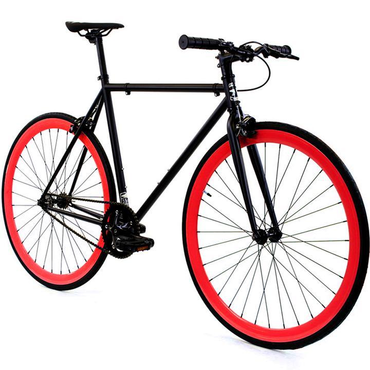 Steel Single Speed, Black/Red $299