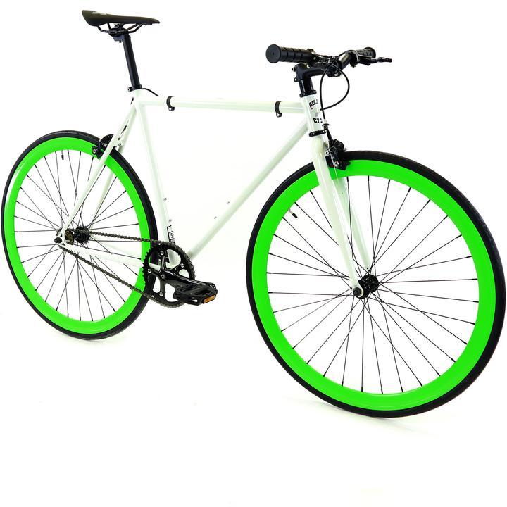 Steel Single Speed, White/Green $299