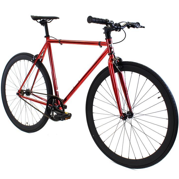 Steel Single Speed, Red/Black $299