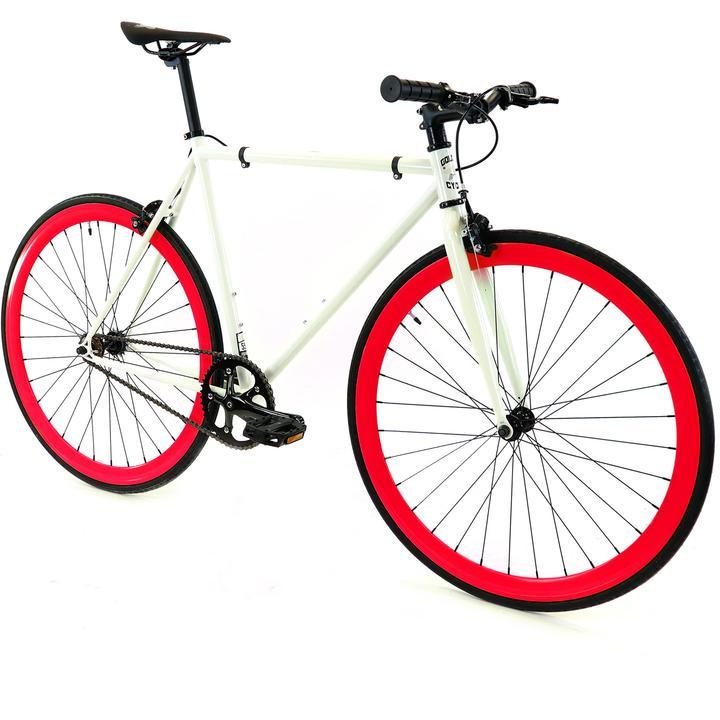 Steel Single Speed, White/Red $299