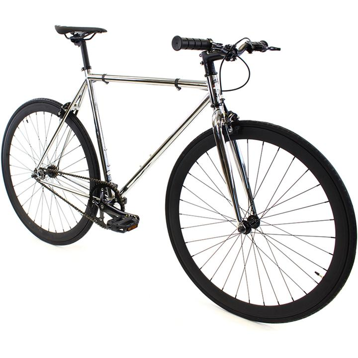 Steel Single Speed, Chrome/Black $299
