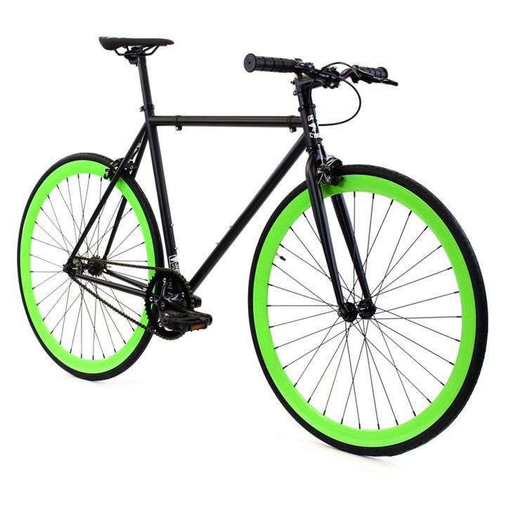 Steel Single Speed, Black/Green