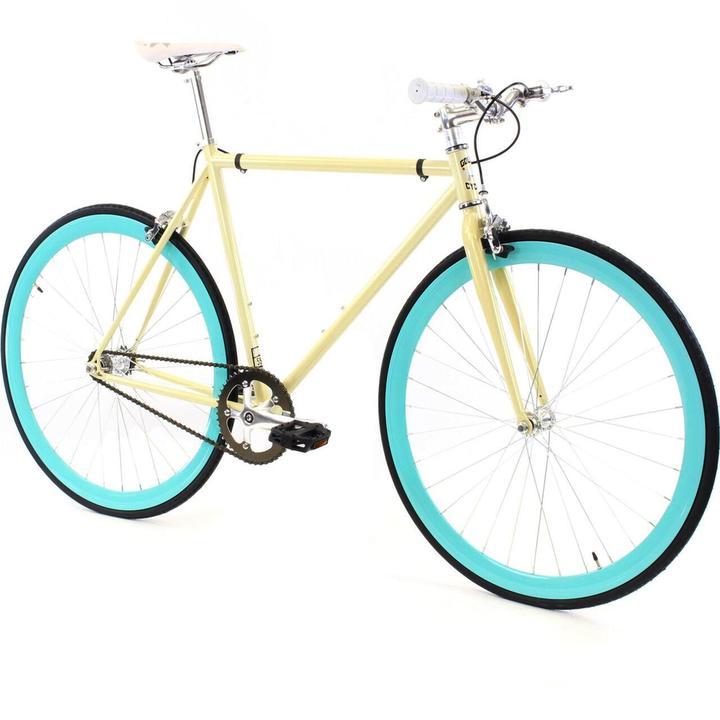 Steel Single Speed, Yellow/Blue $299