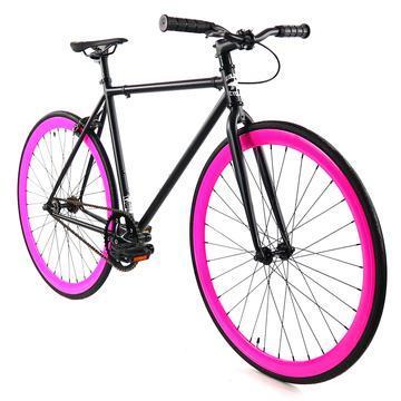 Steel Single Speed, Black/Pink $299