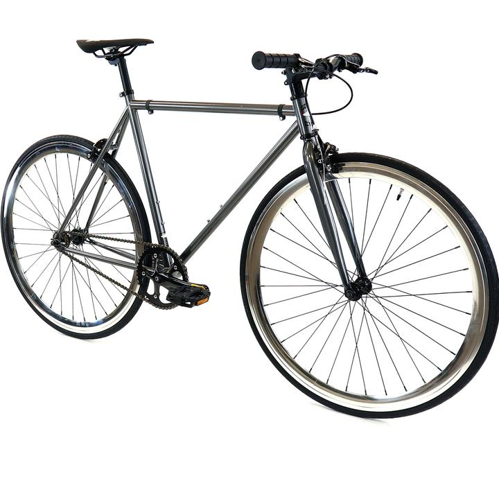 Steel Single Speed, Grey/Chrome $299