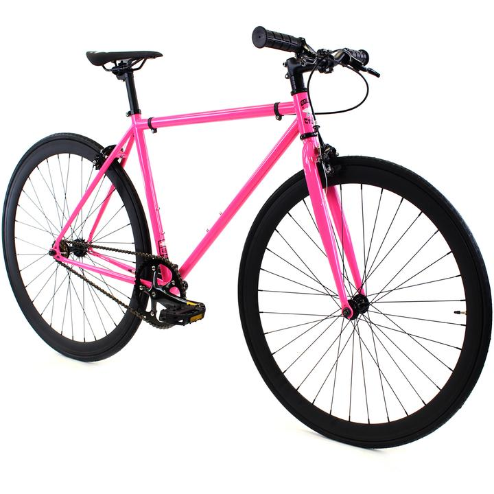 Steel Single Speed, Pink/Black $299