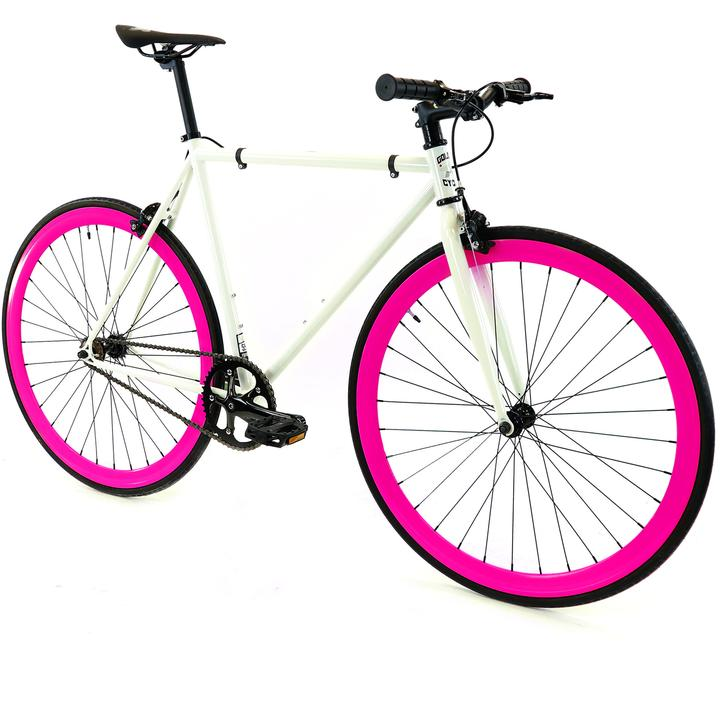 Steel Single Speed, White/Pink $299